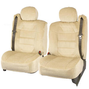 Truck Seat Covers Front Pair Tan Scottsdale Built In Seat