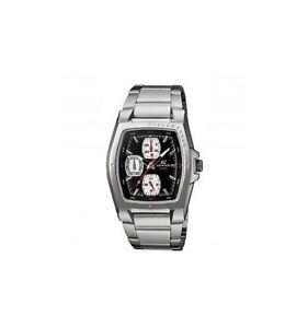 Casio Edifice Rectangle Black Dial Men's Stainless Steel Watch EF-320D-1AV