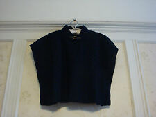 NWT Janie And Jack  Highlands Darling Girls Textured Sweater Cape  5 5T   Navy