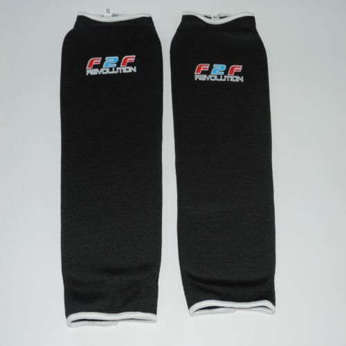 F2F Shin Pads MMA Leg Guards Muay Thai Kick Boxing Guard Protectors Karate UFC