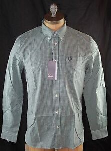 AUTH $131 Fred Perry Three Colour Gingham Shirt