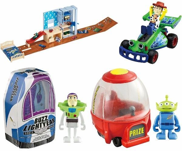 Toy Story Transformed to Andy Room  Woody RC Buzz Lightyear Spaceship Alien 4Set