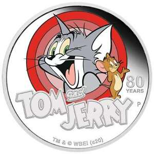 2020-Tom-amp-Jerry-80th-Anniversary-1oz-9999-Silver-Proof-Coin-The-Perth-Mint
