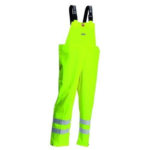 Lyngsoe FR-LR59-53-4XL Microflex Flame Retardant Rain Bib Trousers Hi-Vis Yellow