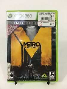 Metro-Last-Light-Limited-Edition-Game-Microsoft-Xbox-360-Rare-Tested-Works