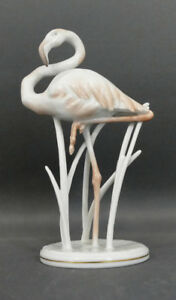 Porzellanfigur-Flamingo-Rosenthal-Fritz-Heidenreich-Praegestempel-1523-13-5-cm