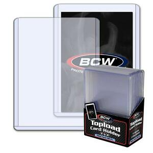 1 Pack of 10 BCW 3 X 4 X 3.5mm Thick Card Topload Holder Jersey Relic 138 pt.