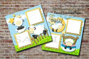 Sweet-Dreams-Sheep-Boy-Girl-Baby-2-PRINTED-Premade-Scrapbook-Pages-BLJgraves-7