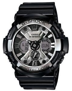 Casio G Shock *GA200BW-1A Stealth Anadigi XL BlackGshock Watch COD PayPal