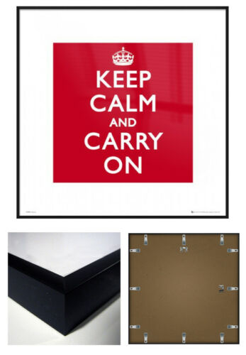 "KEEP CALM AND CARRY ON SIZE: 16/"" x 16/"" FRAMED ART PRINT POSTER"