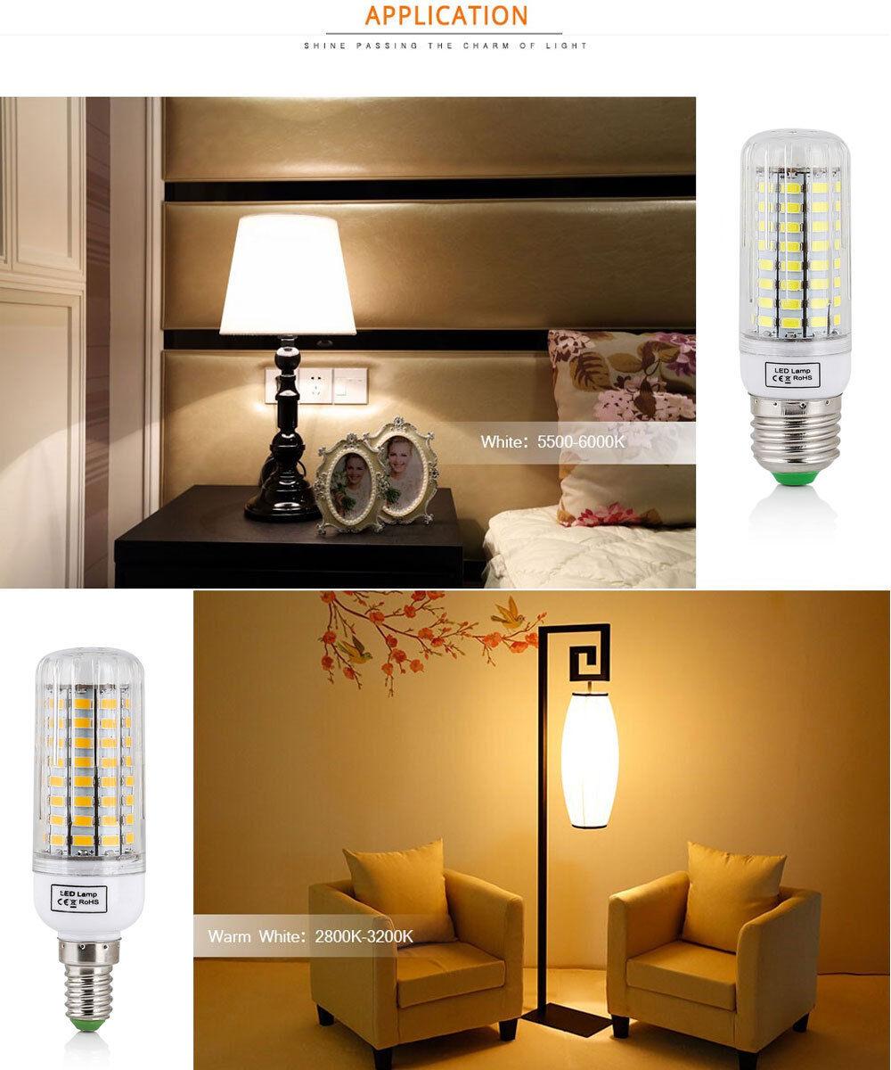 E27 E14 E12 B22 LED Corn Bulb 5730 SMD Spotlight Corn 20W -150W Lamp AC110 220V