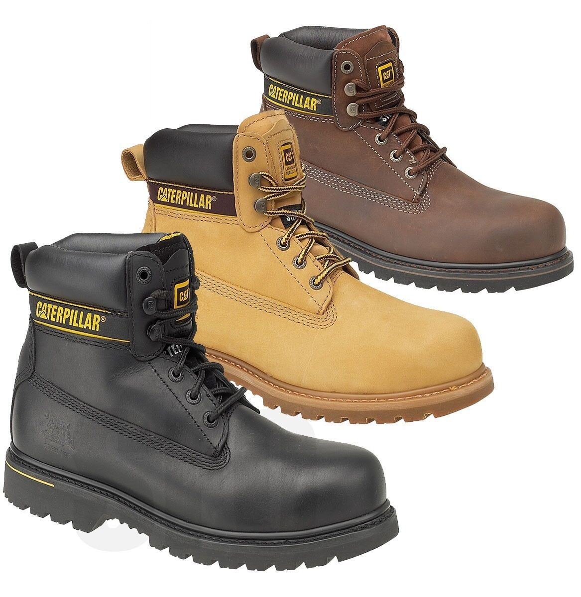 Hombre Caterpillar CAT SAFETY WIDE STEEL TOE CAP SAFETY CAT WORK Zapatos TRAINER botas SZ 6-15 022c3e