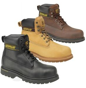 8ef41c1084 MENS Caterpillar CAT WIDE STEEL TOE CAP SAFETY WORK SHOES TRAINER ...