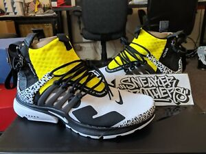 huge discount e6979 886d8 Image is loading Nike-Air-Presto-Mid-x-Acronym-White-Black-