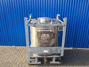 edelstahlbeh lter va tank container 1000 liter gebraucht ibc beh lter edelstahl ebay. Black Bedroom Furniture Sets. Home Design Ideas