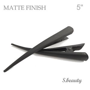 4 long Large beak alligator hair clips Black Matte Metal 5 in//13cm for long hair