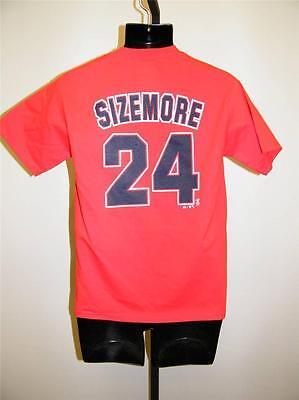Cleveland Indians Grady Sizemore #24 Jugendliche Large L Majestic Selbstlos Shirt Front Weitere Ballsportarten