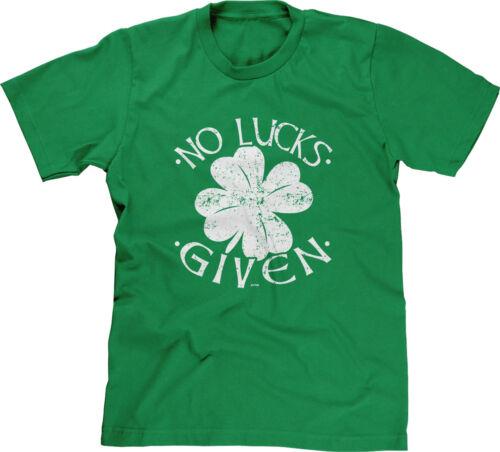 No Lucks Given St Patricks Day Saying Slogan Parody Funny Humor Joke Mens Tee