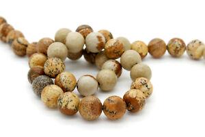 Jasper-Natural-Picture-Jasper-Smooth-Round-Sphere-Ball-Gemstone-Loose-Beads