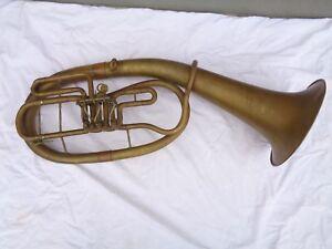 Stable Tuba Horn Oswald Wolfram Markneukirchen-afficher Le Titre D'origine