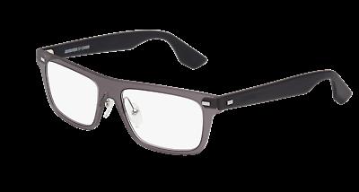 4a46d83c61 McQueen Men   Women Eyeglasses MQ0025O-001 53 Grey Black Frame   Demo Lenses