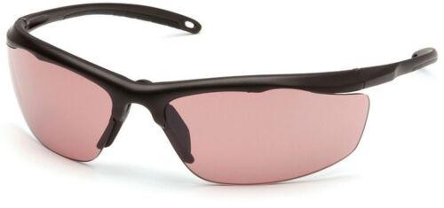 Venture Gear Zumbro Safety Sunglasses Bronze Frame Vermillion Anti-Fog Lens