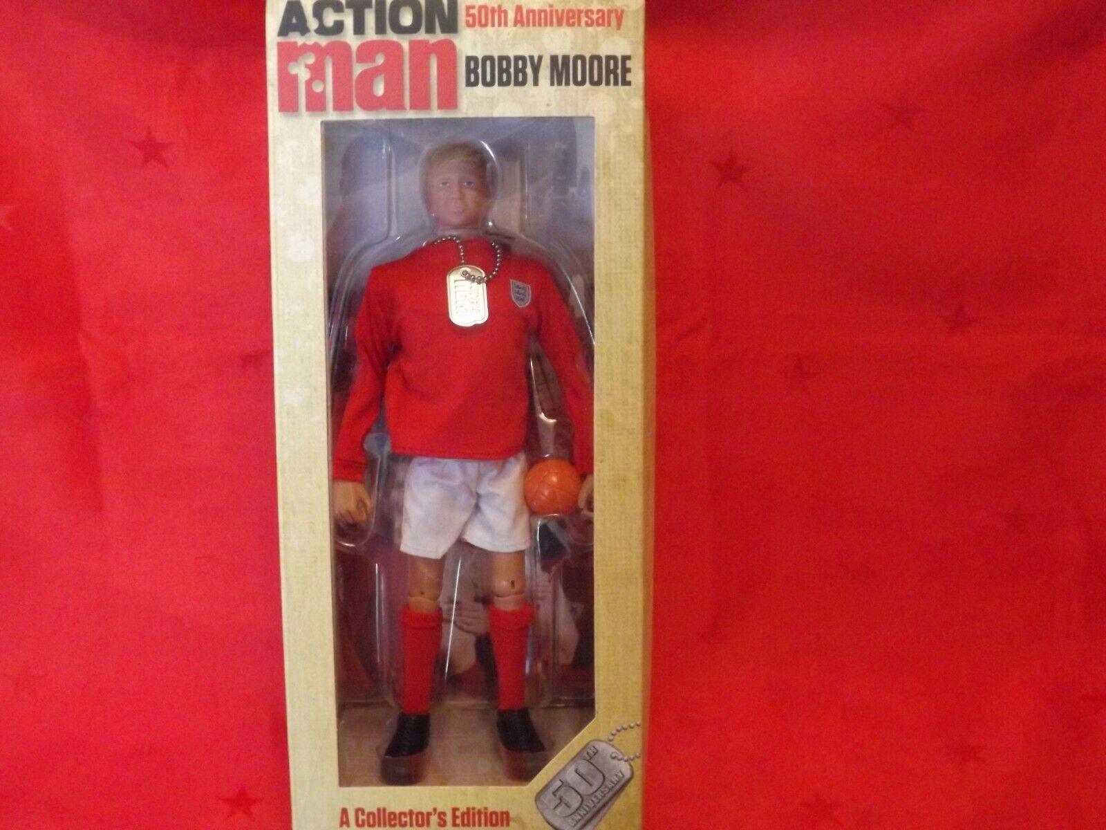 Acción Man 50th aniversario Bobby Moore figura AM718-Nuevo