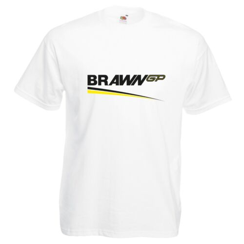 Brawn GP T-Shirt VARIOUS SIZES /& COLOURS Car Enthusiast Track Day F1 Racing