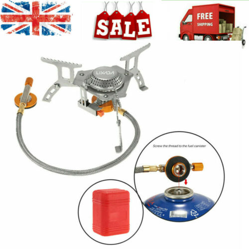 3000W Camping Gas Stove Outdoor Cooking Portable Foldable Split Burner UK N1L0