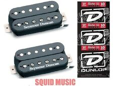 Seymour Duncan SH-4 JB & SH-2 Jazz Hot Rodded Black Set ( 3 FREE STRING SETS )