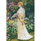 In Her Garden counted cross stitch kit by Dimensions Gold Collection new #35119