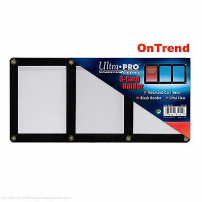Ultra-Pro Black Frame 3-Card Holder for Trading and Collectors Cards NEW