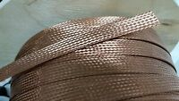 225 Feet 5/8 Braided Ground Strap Grounding Bare Pure Copper Flat Braid Usa