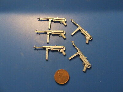 Nuovo-set Risparmio - 5 X Deut. Macchine Pistola, Wk Ii, Carri Armati Rc Accessori, Scala 1:16-le,wk Ii, Rc Panzer Zubehör, Maßstab 1:16 It-it Mostra Il Titolo Originale