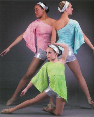 Clearance SPELLBOUND Jazz Dance Costume Green AXL