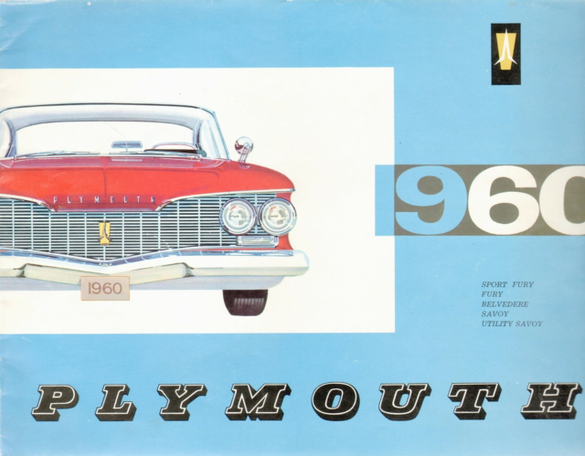 Plymouth 1960 US, Original salgsbrochure til Plymouth 1960…