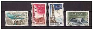 s24596-FRANCE-1959-MNH-Architecture-4v
