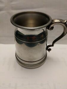 Finest-English-Pewter-Tankard-Made-In-Sheffield-Great-Original-Condition