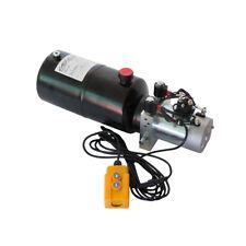 12 Volt Hydraulic Pump For Dump Trailer 6 Quart Steel Double Acting