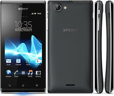 New Original Sony XPERIA J ST26i 4GB Black (Unlocked) Smartphone,5MP,Bar,Wifi