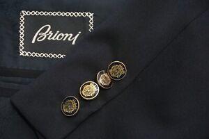 Brioni Nomentano Black Metal Button Wool Sport Coat Jacket Sz 40R