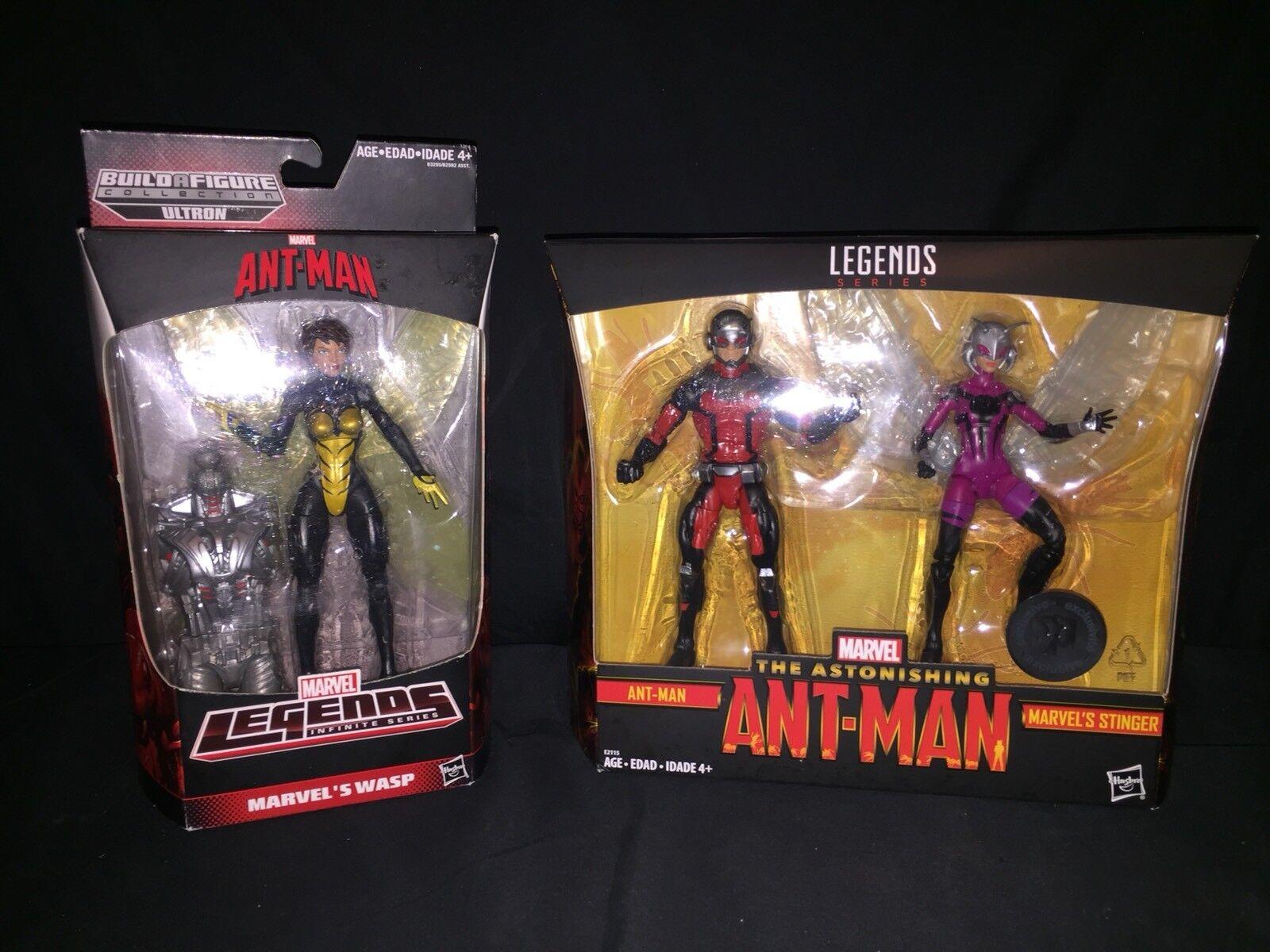 Marvel - legenden ant-man & stinger tru exklusiven plus wespe w baf menge 2...
