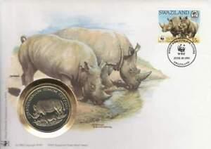 Numisbrief WWF 1993 Swaziland - Ceratotherum Simum Cottoni / Neushoorn (013)