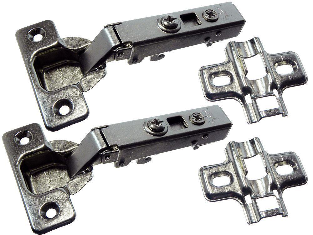 20 Pairs of Slow Close Concealed Cupboard Hinge 110 Degree Screws Bzp Steel