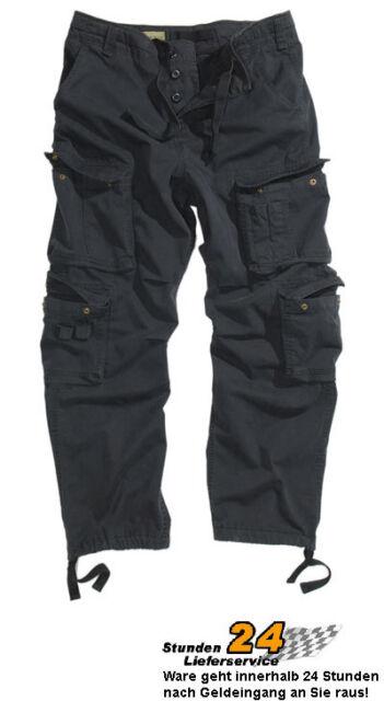 Vintage Pant SAFARI Hose Premium schwarz-stone XS-XXL A.B.Cargohosen Mischgewebe