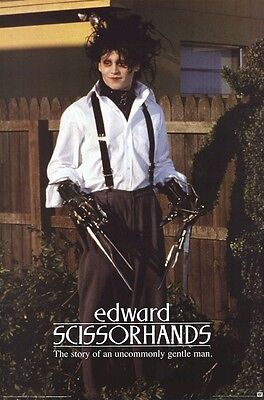 Edward Scissorhands Hedges 24x36 Movie Poster Johnny Depp Tim Burton Ebay