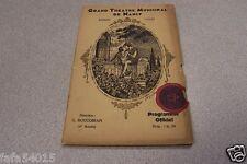 GRAND THEATRE MUNICIPAL DE NANCY 1932-33 A GAILLARD
