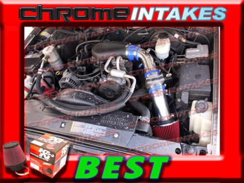 K/&N+BLUE RED 96-05 CHEVY S10//ZR2//ZR5//BLAZER//SONOMA//JIMMY 4.3 V6 COLD AIR INTAKE