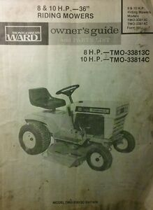 s l300 montgomery ward 8 & 10 h p lawn tractor 36 mower owner & parts