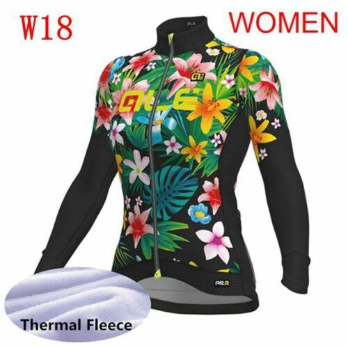 Women Team Cycling Fleece Jersey Winter Ladies Long Sleeve Thermal Biking Jersey